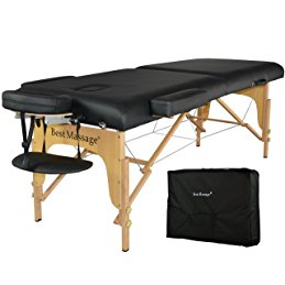 BestMassage Black 77″ Long 28″ Wide 3″ Pad Professional Series Portable Massage Table