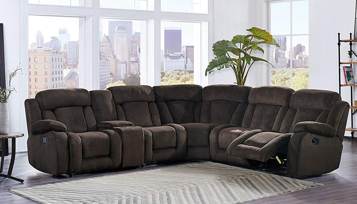 Global Furniture USA 6 Piece Sectional Sofa