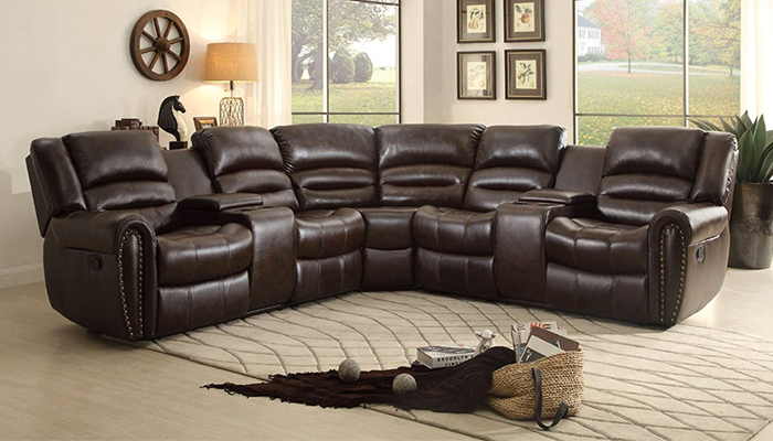 Homelegance 3-Piece Bonded Leather Sectional Sofa