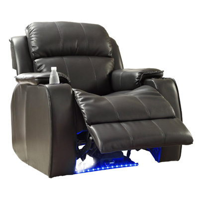 Homelegance 9745BLK-1 Jimmy Collection Upholstered Power Reclining Massage Chair